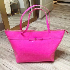 Kate Spade Pink Camelia Street Patent Tote Bag